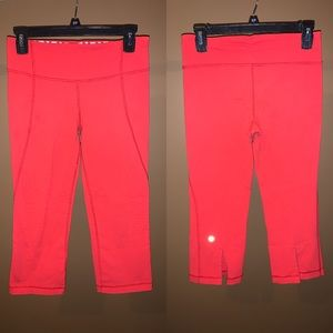 Lululemon athletica coral cropped leggings size 6